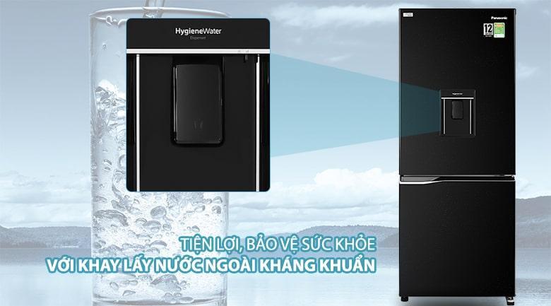 Tủ lạnh Panasonic Inverter 255 lít NR-BV280WKVN tiện lợi, bảo vệ sức khoẻ với khay lấy nước ngoài kháng khuẩn