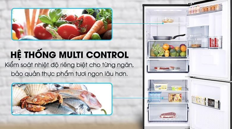 Công nghệ Multi Control giúp tủ lạnh Panasonic Inverter 255 lít NR-BV280WKVN kiểm soát nhiệt độ từng ngăn độc lập