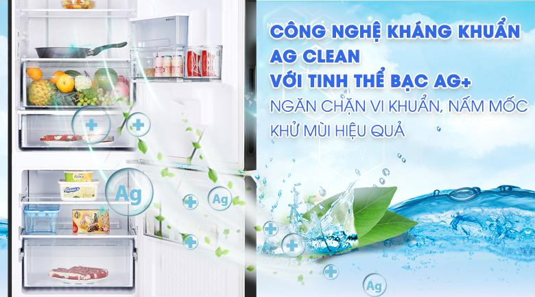 Công nghệ kháng khuẩn Ag Clean với tinh thể bạc Ag+ngăn chặn vi khuẩn, mùi hôi