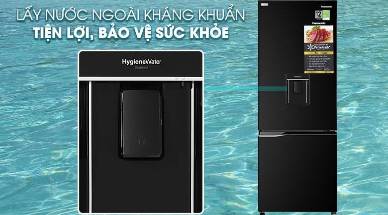 Tủ lạnh Panasonic Inverter 290 lít NR-BV320WKVN tiện lợi hơn với khay lấy nước bên ngoài kháng khuẩn bảo vệ sức khỏe