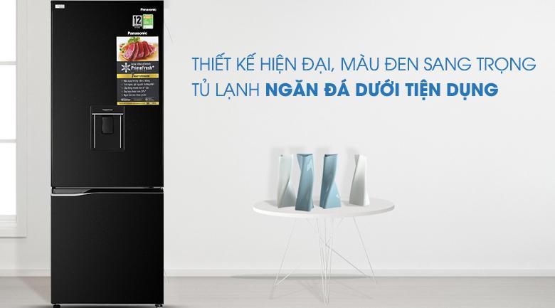 Tủ lạnh Panasonic Inverter 290 lít NR-BV320WKVN thiết kế hiện đại với ngăn đá dưới tiện lợi