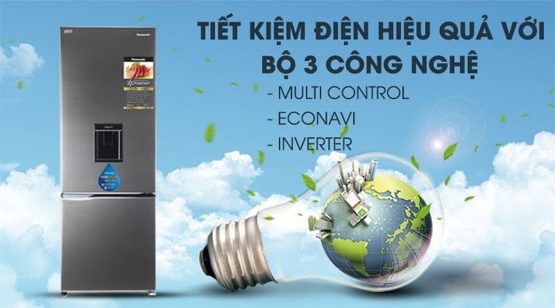 Tiết kiệm điện hiệu quả nhờ bộ 3 công nghệ:Multi Control,EconavivàInverter