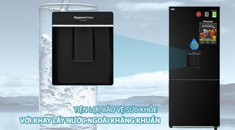 Tủ lạnh Panasonic Inverter 368 lít NR-BX410WKVN tiện lợi và an toàn hơn với khay lấy nước ngoài kháng khuẩn, khử mùi