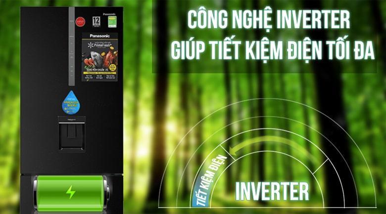 Tủ lạnh Panasonic Inverter 410 lít NR-BX460WKVN giảm chi phí điện và tủ lạnh vận hành ổn định, bền bỉ với công nghệ Inverter