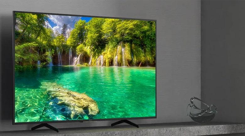 Tivi Sony 43X7500H có viền đen mạnh mẽ, thiết kế sang trọng