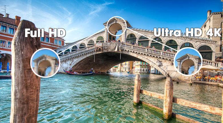 Được trang bị độ phân giải Ultra HD 4K cho hình ảnh sắc nét từng chi tiết