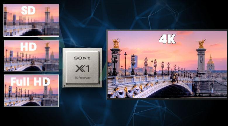 Xử lý hình ảnh tuyệt vời nhờ chip xử lý X1 4K Processor và công nghệ 4K X-Reality PRO