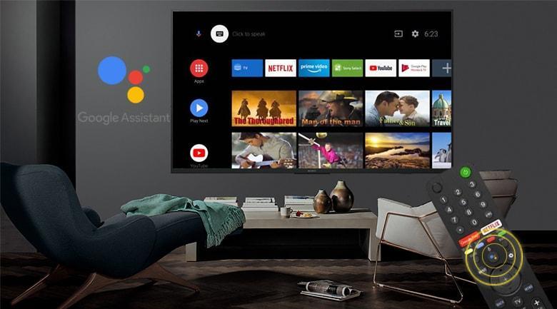 Tivi Sony 49X7500H có điều khiển thông minh và trang bị ứng dụng Google Assistant