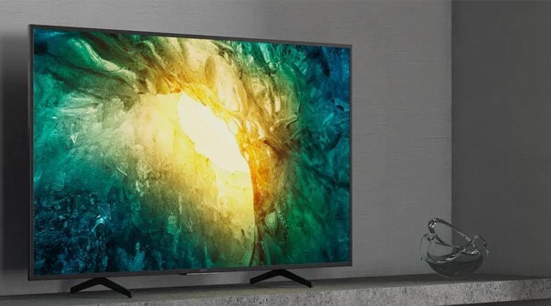 Tivi Sony 49X7500H sở hữu lối thiết kế đơn giản nhưng hiện đại