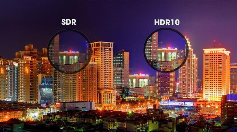 Tivi Sony 49X7500H trang bị công nghệ HDR10 tăng cường độ tương phản