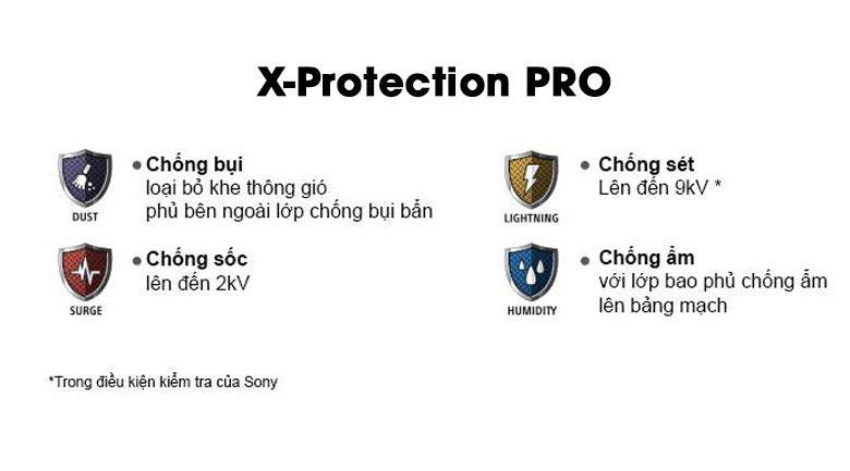 Tivi Sony 65X7500H sở hữu công nghê X-Protection Pro cho sản phẩm bền hơn