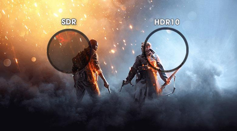 Tivi Sony 55X7500H sở hữu công nghệ HDR10 tăng cường độ tương phản