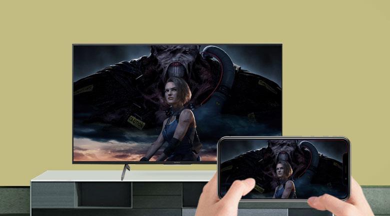 Với điện thoại iOS của apple bạn có thể chiếu màn hình lên tivi linh hoạt