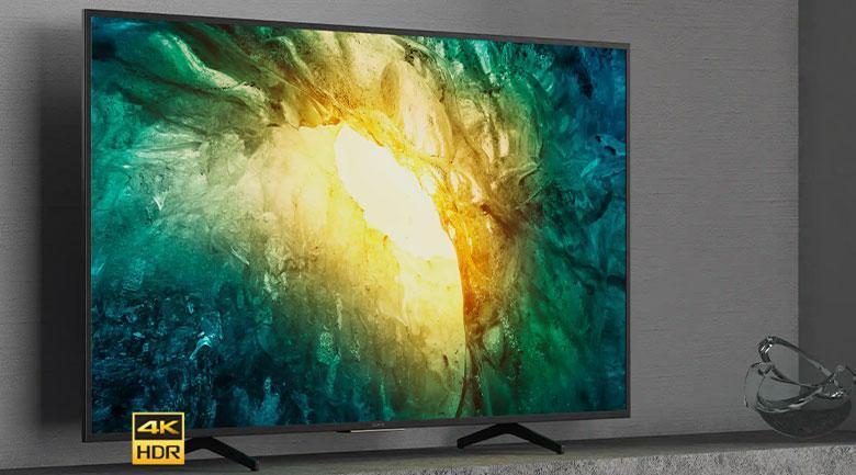 Tivi Sony 65X7500H được thiết kế thanh thoát, rất hiện đại