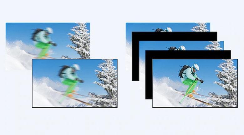 Công nghệ Motionflow XR 200 Hz cho cảnh chuyển động trênTivi Sony 65X7500H mượt mà hơn