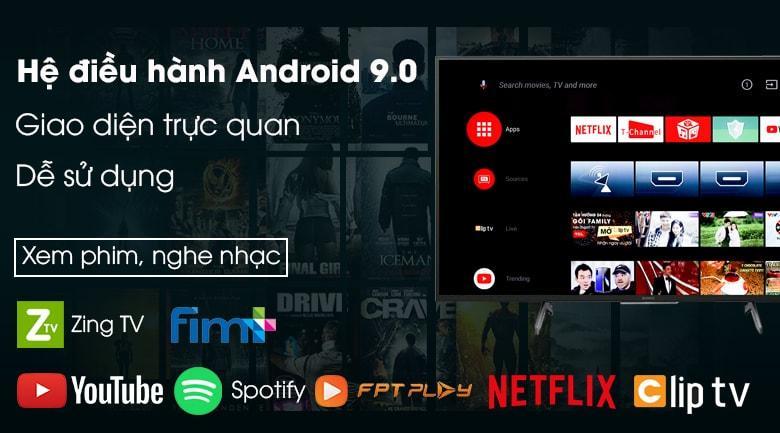 Tivi Sony 85X8000H có giao diện trực quan, dễ sử dụng nhờ hệ điều hành Android 9.0