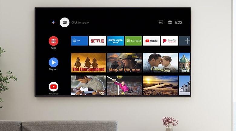 Tivi Sony 43X8000H trang bị hệ điều hành Android 9.0 mới nhất, đơn giản và dễ sử dụng