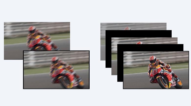 Tivi Sony 55X8000H được trang bịcông nghệ Motionflow™ XR 200 Hz cho hình ảnh động mượt hơn