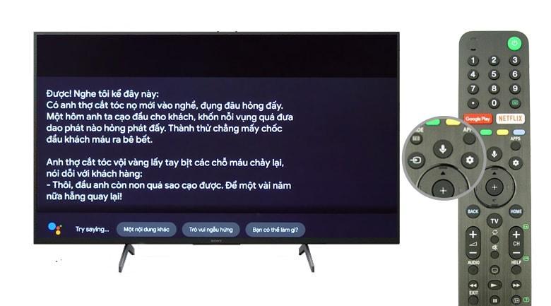 Tivi Sony 55X8000H hỗ trợ tìm kiếm giọng nói tiếng Việt rất thông minh