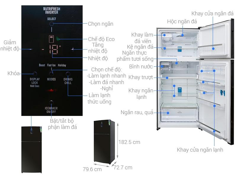 Tủ lạnh Electrolux Inverter 531 lít ETE5722BA