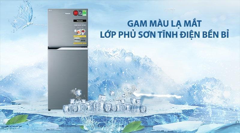 Tủ lạnh Panasonic NR-BL26AVPVN gam màu lạ mắt, cùng lớp phủsơn tĩnh điệnbền bỉ