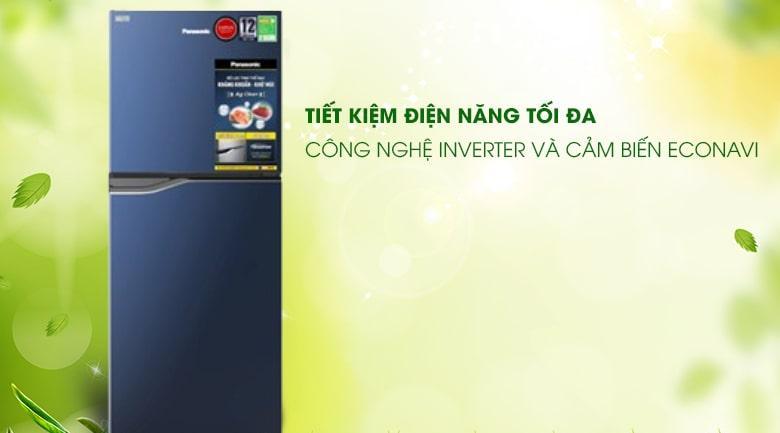 Tủ lạnh Panasonic NR-BA189PAVN tiết kiệm điện năng tối đa nhờ công nghệ Inverter và cảm biến Econavi