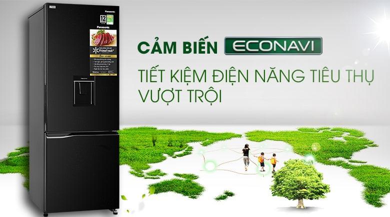 Tủ lạnh Panasonic Inverter 290 lít NR-BV320WKVN công nghệ Econavi cho khả năng tiết kiệm điện vượt trội