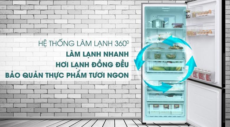 Tủ lạnh Electrolux EBE4502BA công nghệ làm lạnh 360 độ làm lạnh thực phẩm nhanh chóng, đồng đều