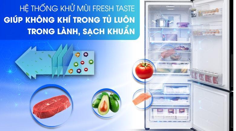 Tủ lạnh Electrolux EBE4502BA hệ thống Fresh Taste khử sạch vi khuẩn và mùi hôi thực phẩm
