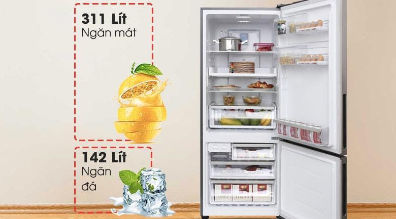 Tủ lạnh Electrolux EBE4502GA thiết kế ngăn đá dưới hiện đại, sang trọng