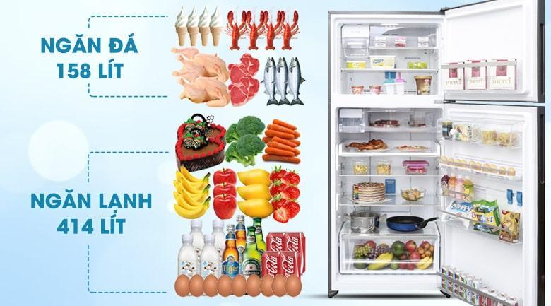 Tủ lạnh Electrolux ETE5722BA thiết kế sang trọng, đẳng cấp