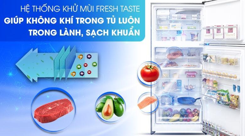 Tiêu diệt lên đến 99,8% vi khuẩn và mùi hôi thực phẩm vớihệ thống khử mùi Fresh Taste