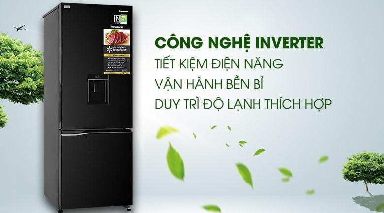 Tủ lạnh Panasonic Inverter 290 lít NR-BV320WKVN tiết kiệm điện, vận hành êm với công nghệ Inverter