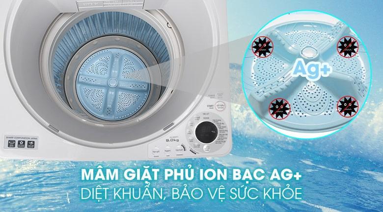 Bảo vệ sức khoẻ, hạn chế mùi hôi với mâm giặt kháng khuẩn phủ bạc Ag+