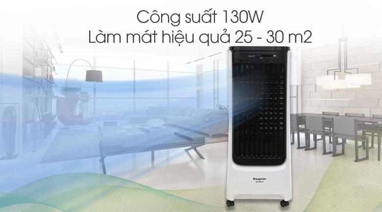 Công suất hoạt động mạnh đến130 W, có 4 mức tốc độ gió để lựa chọn,diện tích làm mát rộng 25 – 30 m²