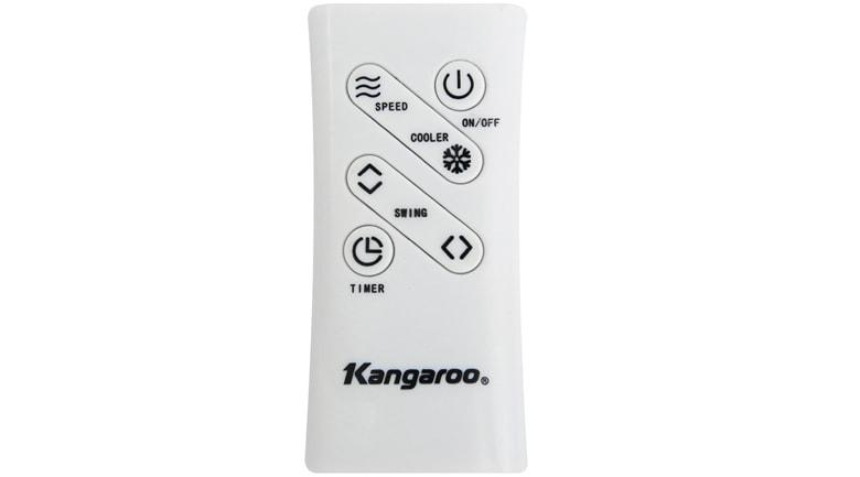 Quạt điều hòa Kangaroo KG50F58 remote đi kèm, điều khiên từ xa linh hoạt