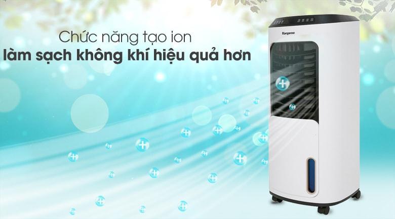 Chức năng tạo ion âm thanh lọc không khí trong 1 lần chạm, cho không khí trong lành nhất