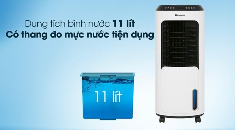 Bình chứa nước có dung tích 11 lít sử dụng liên tục 5 -7 tiếng mỗi ngày, thang đo mực nước trong suốt ngoài vỏ