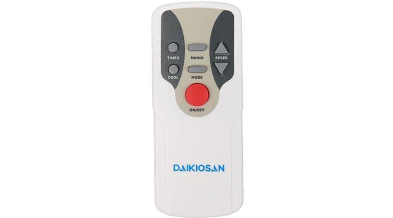 Quạt điều hòa Daikiosan DKA-04000B có trang bị Remote điều khiển từ xa trong bán kính 6m
