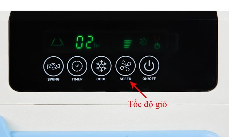 Quạt điều hoà Daikiosan DKA-04500D có bảng điều khiển dễ hiểu, dễ sử dụng