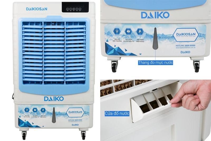 Quạt điều hoà Daikiosan DKA-04500D có bình chứa 36 lít, thang đo mực nước tiện quan sát