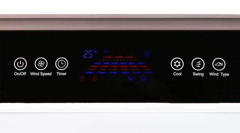 Quạt điều hoà Kangaroo KG50F69 trang bị bảng điều khiển cảm ứng hiện đại và màn hình hiển thị sắc nét