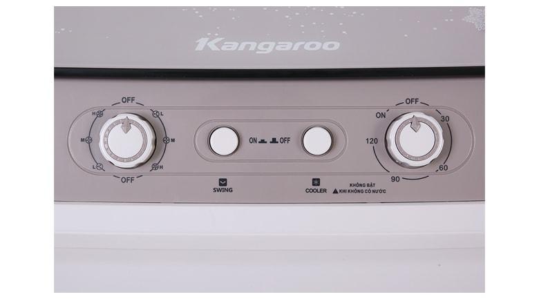 Bảng điều khiển cơ : nút nhấn đơn giản, dễ dàng thao tác trong quạt điều hòa Kangaroo KG50F72