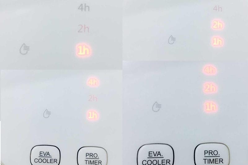 Quạt Midea AC120-16AR có bảng điều khiển bên trên quạt tiện lợi, dễ hiểu