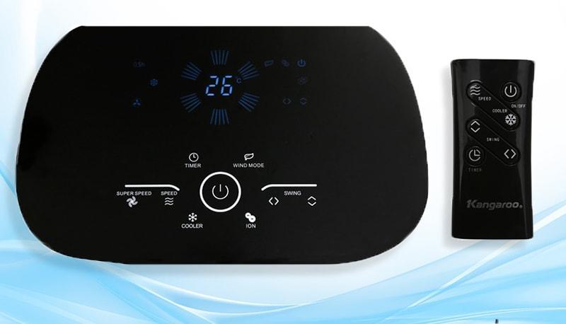 Bảng điều khiển nút nhấn điện tử hiện đại có màn hình Led hiển thị dễ quan sát và thao tác, kèm thêmđiều khiểntừ xatiện dụng