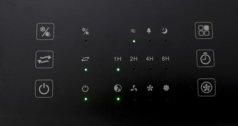 Bảng điều khiển cảm ứng nhạy bén, chế độ hẹn giờ tắt đên 8 tiếng