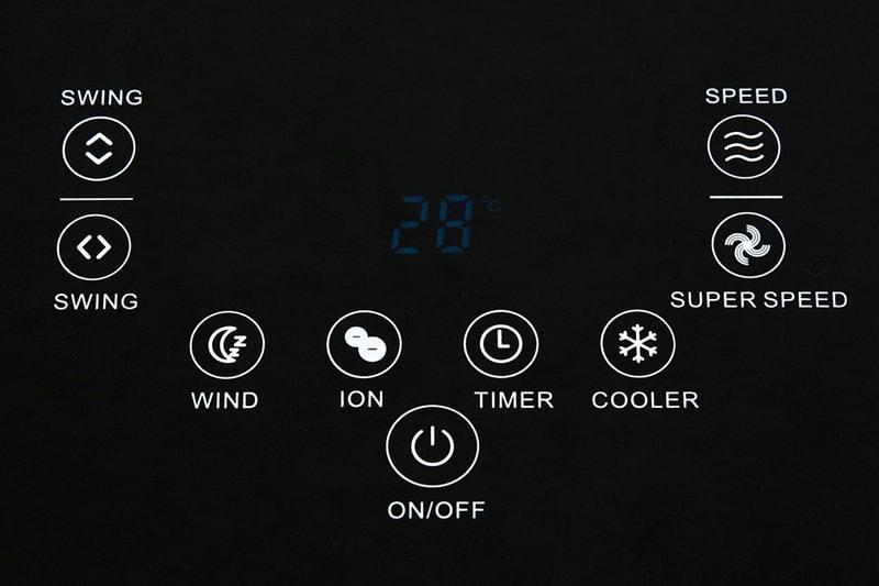 Quạt điều hòa Kangaroo KG50F58 có bảng điều khiển cảm ứng dễ sử dụng, có nhiều chức năng cho bạn sử dụng