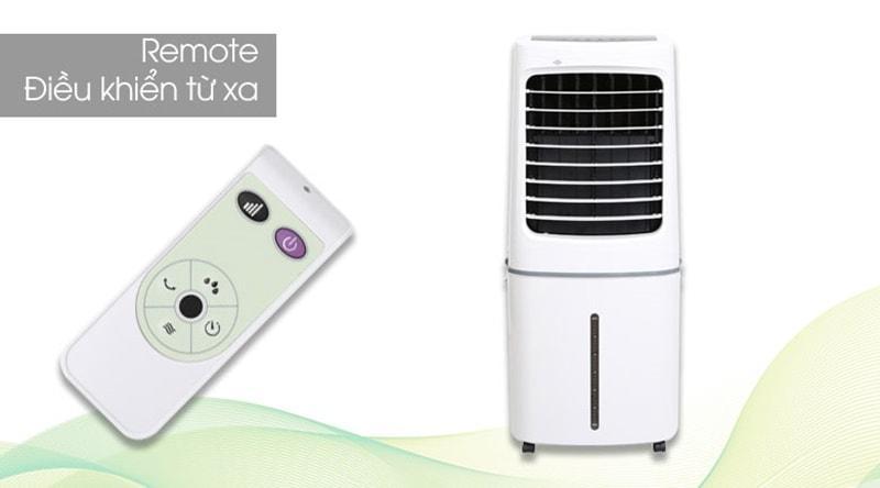 Quạt điều hòa Midea AC200-17JR trang bị remote cài đặt dễ dàng từ xa