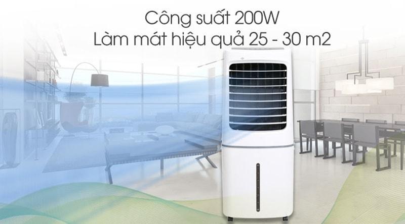 Quạt điều hòa Midea AC200-17JR có công suất 200 W, cùng với lưu lượng gió 310 m3/h