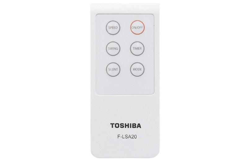 Quạt Toshiba F-LSA20(H)VN có thiết kế từ xa đầy đủ tính năng tiện lợi khi ở xa quạt